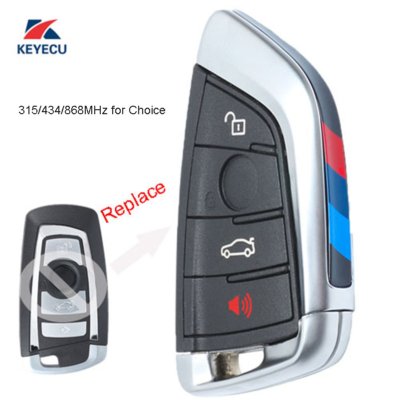 Bmw Key Fob Replacement >> Us 26 91 10 Off Keyecu Black Replacement Remote Key Fob 4 Button 315 433 868mhz For Bmw 1 2 3 4 5 6 7 Series X1 X3 F Chassis Cas4 Fem 2011 2017 In