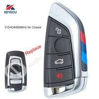 KEYECU Black Replacement Remote Key Fob 4 Button 315/433/868MHz for BMW 1 2 3 4 5 6 7 Series X1 X3 F Chassis CAS4+ FEM 2011 2017