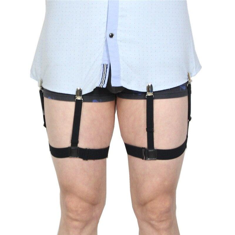 148b3291a3063 Mens camisa Mens queda ligas ajustable de Nylon soportes estribo  antideslizante la pierna elástico cinturón tirantes