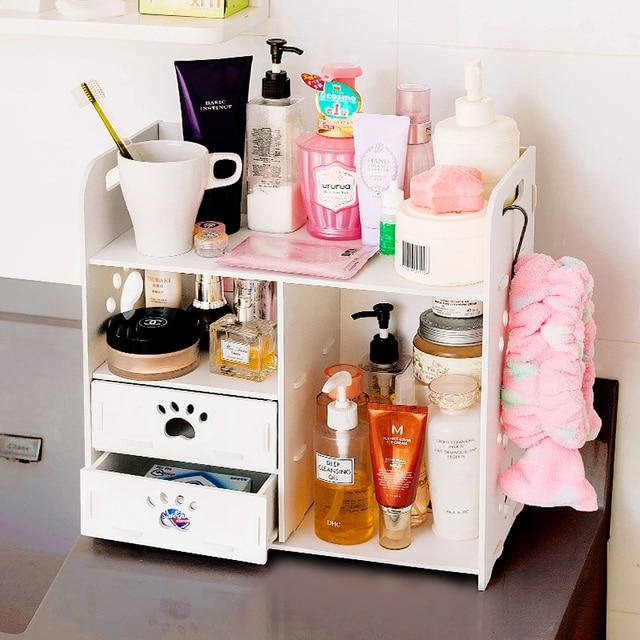 Storage Products Desktop Cosmetic Box Large Wooden Dresser Drawer Racks Office Desk
