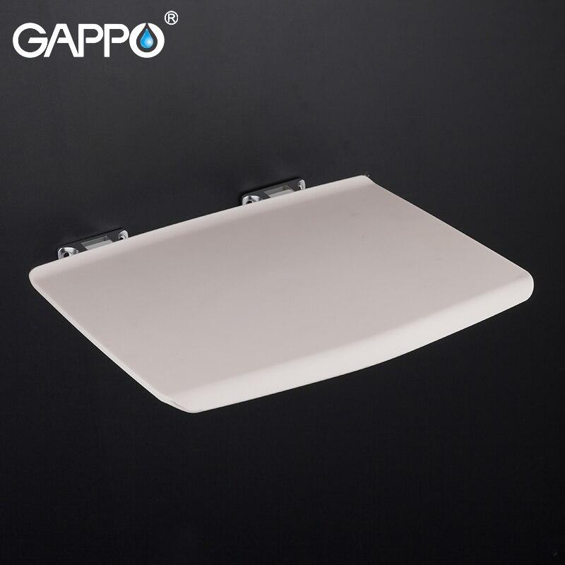 GAPPO sièges de douche muraux salle de bain chaise pliante blanc banc de douche tabouret toilette mural gain de place siège pliant
