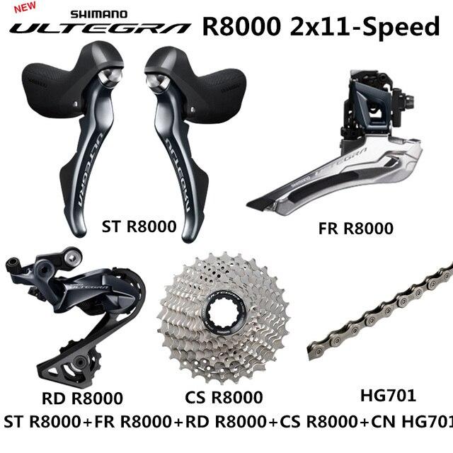 SHIMANO R8000 Groupset ULTEGRA R8000 Derailleurs  ROAD Bicycle ST+FD+RD+CS+CN Front Derailleur REAR DERAILLEUR CONTROL LEVER