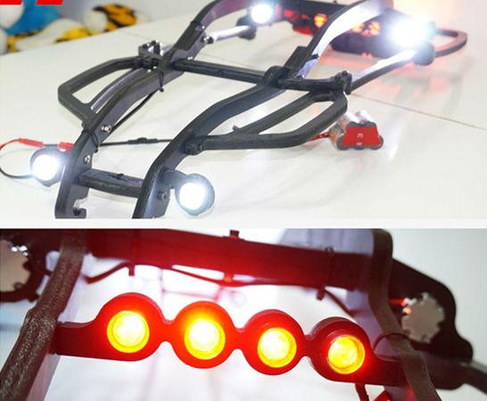 TRAXXAS XMAXX XMAXXL լամպերի լուսարձակող լուսարձակի հավաքածու 12 հատ հատ Ներառեք գլխի լույսի փակագիծ և անջատիչ