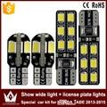2pcs show wide light canbus 5730 8smd led + 2pcs license plate lights Special car 2835 12smd led kit for honda JADE(2013-2015)