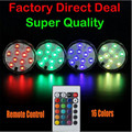12pieces/Lot Event Supplies Battery Operated LED Multi Color Submersible Battery Party Vase Base Light Floral Remote Controller