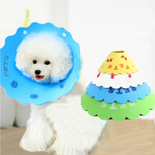 Pet Dog Anti-bite Collars With Breathable Soft Edge Plastic Snap Closure Puppy Protective Recovery Pets Cone Collar
