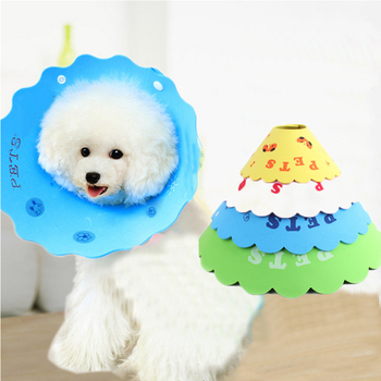 Anti Bite Dog Cone with Breathable Soft Edge Made with Plastic for Recovery from Neck Wound or Surgery