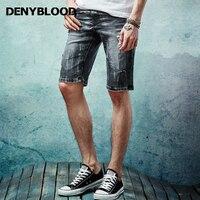 Denybloodกางเกงยีนส์บุรุษถักกาง