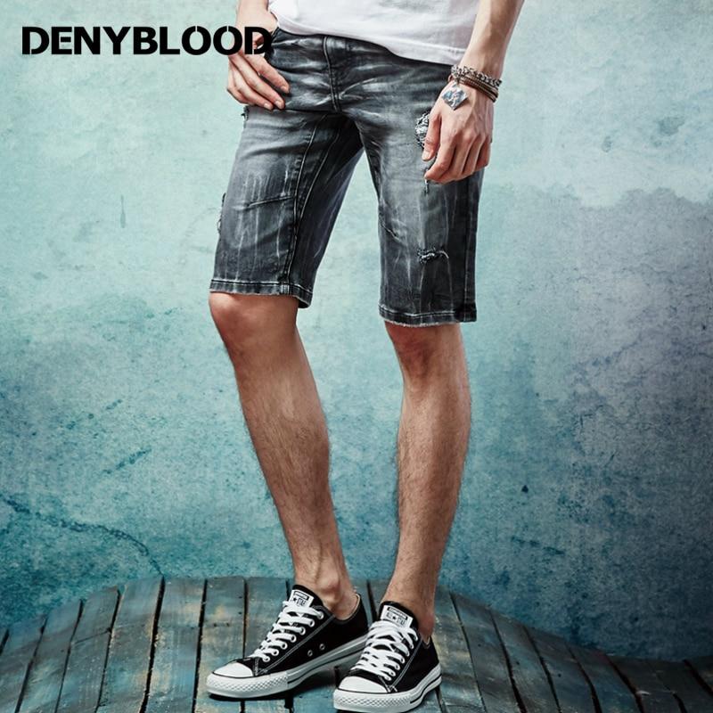 Online Get Cheap Black Denim Shorts Men Ripped -Aliexpress.com ...