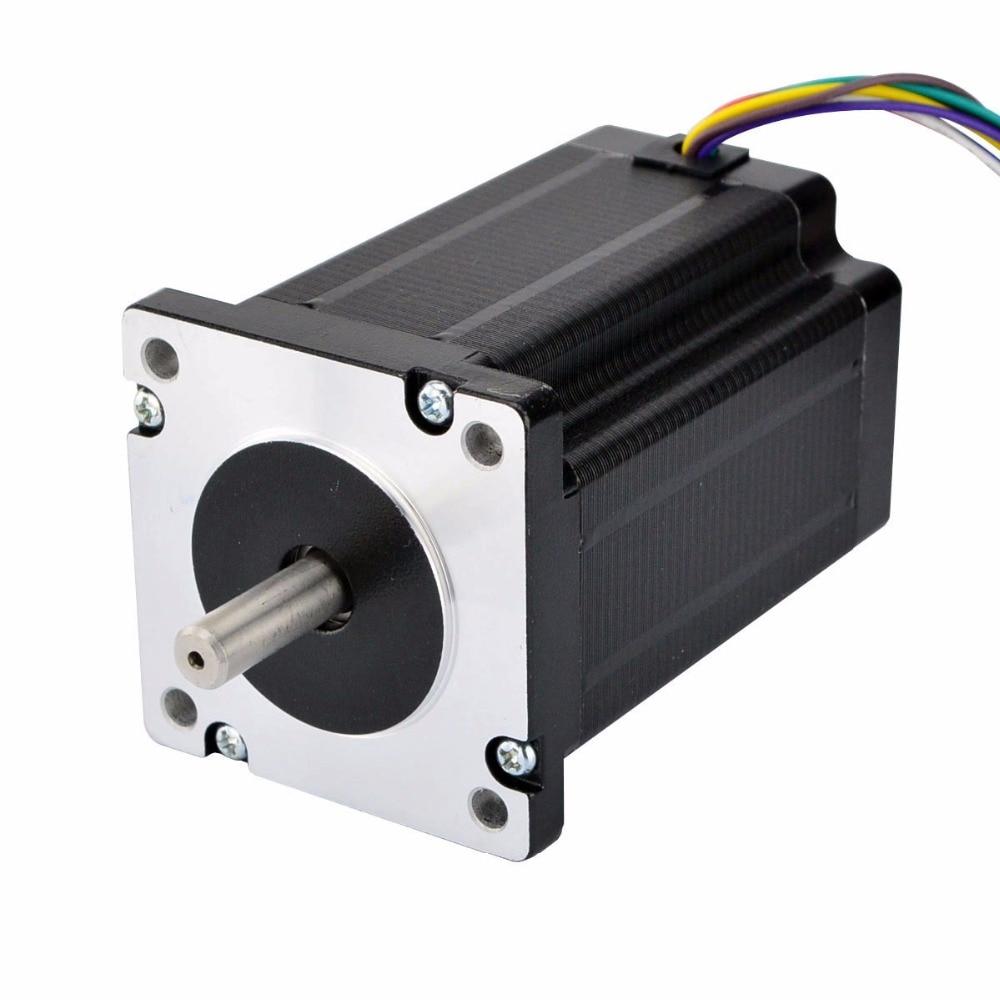 Nema 24 Dual Shaft stepper motor CNC Stepper 3.1Nm (439 oz.in) 1.8 deg 60x60x80mm 8 Wires for cnc 3d printer cnc stepperNema 24 Dual Shaft stepper motor CNC Stepper 3.1Nm (439 oz.in) 1.8 deg 60x60x80mm 8 Wires for cnc 3d printer cnc stepper