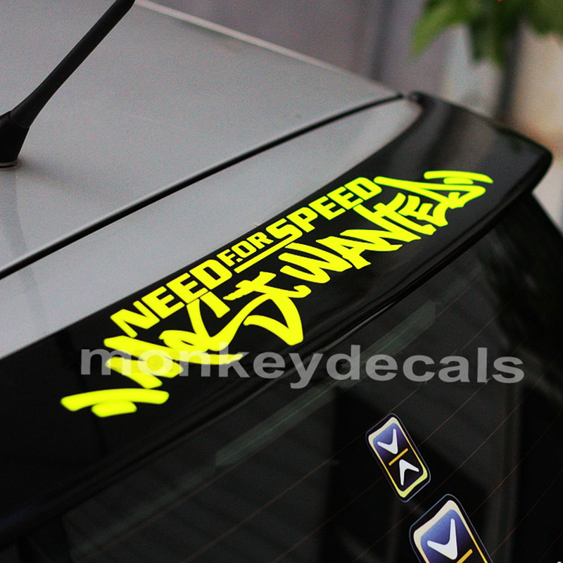 Car decals hellaflush need for speed 57cm x 9.7cm car  vinyl waterproof outdoor stickers