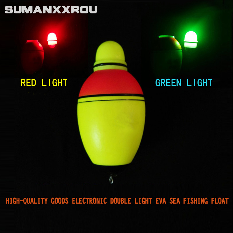 5pcs Luminous Fishing Float Boia Foam Type Led Fishing Light Stick Bobber Buoy Electronic Glowing Night Fishing Floats Set YF1