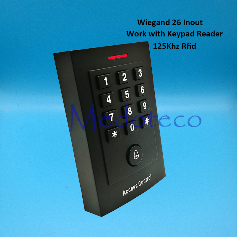 New 125khz rfid Card Access Control EM card Press keypad access controller wiegand 26 input for Keypad Reader Door Lock Reader outdoor mf 13 56mhz weigand 26 door access control rfid card reader with two led lights
