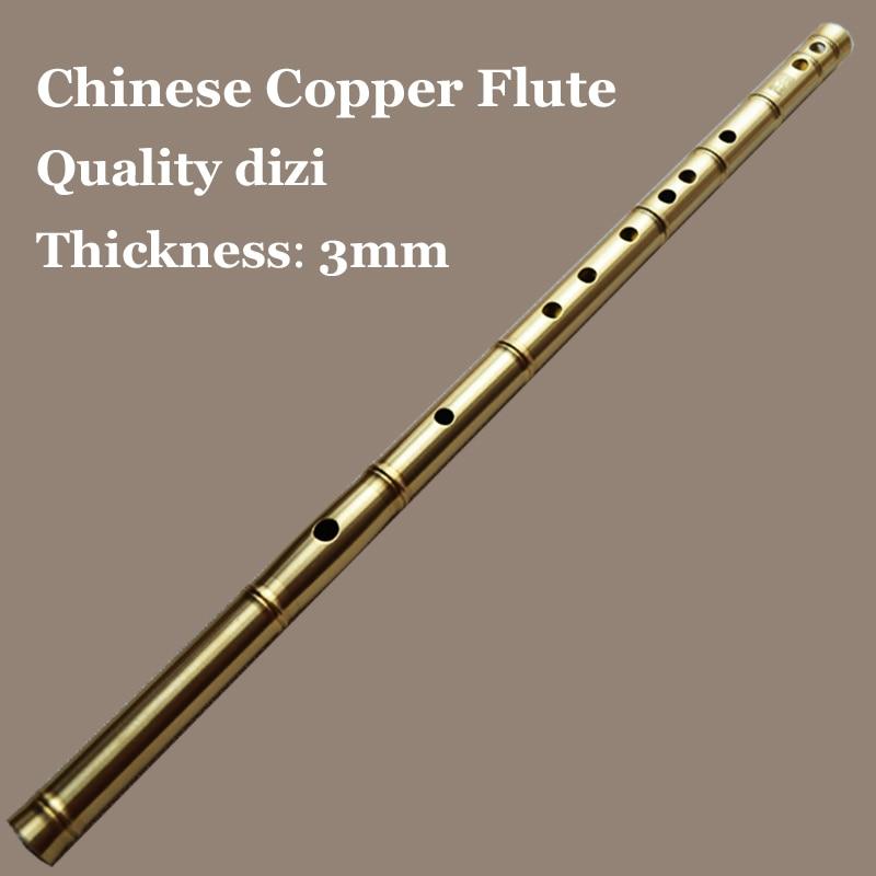 Chinese Flute Metal Transverse Dizi Copper Flauta ...