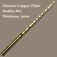 Chinese Flute Metal Transverse Dizi Copper Flauta Professional Wind Instruments Musical C/D/E/F/G Key Pocket Self defense Weapon