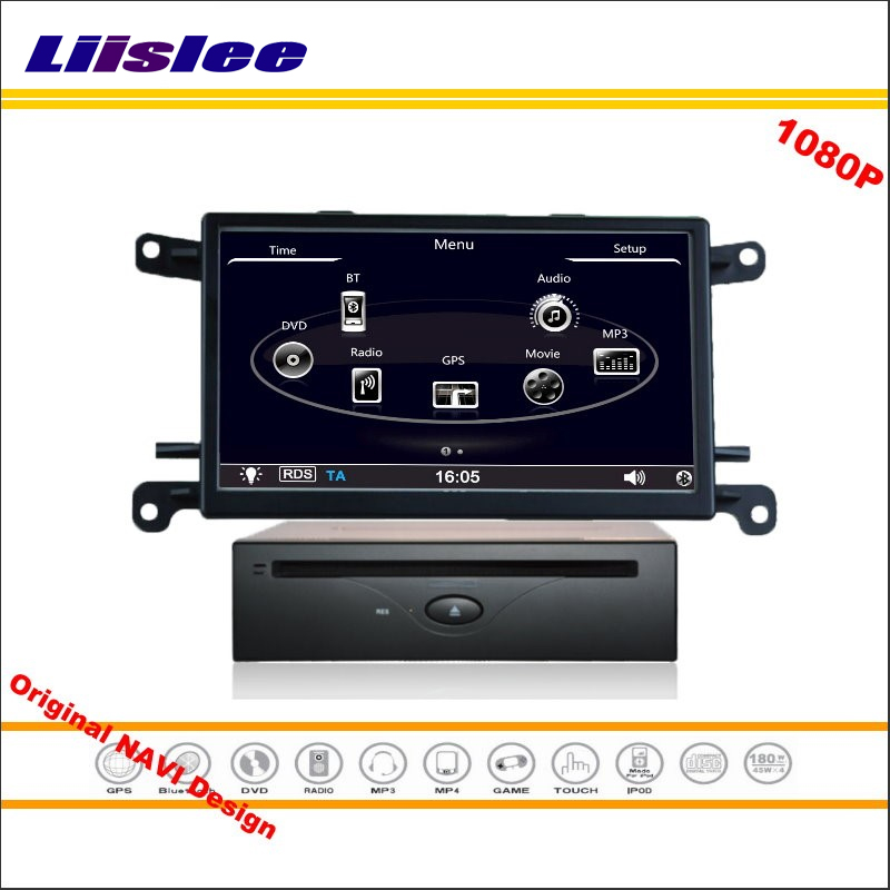 Liislee For Audi A4 / Q5 2009~2016 - Car Stereo Radio CD DVD Player GPS Nav Navi Navigation HD Screen System Original With Aux