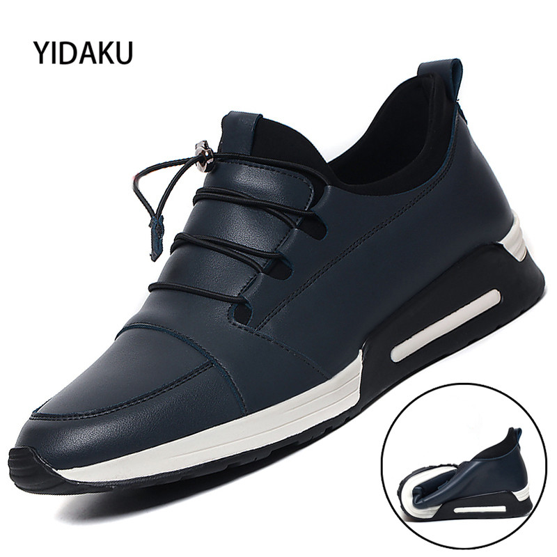 YIDAKU Spring and Autumn New Men 's Shoes Youth Round Toe Foot and Leisure Leather Fashion Winter Men' S Shoes fashion women s gorgeous colorful embroidery leisure shoes spring and autumn walks tourism national style flats smyxhx 10136