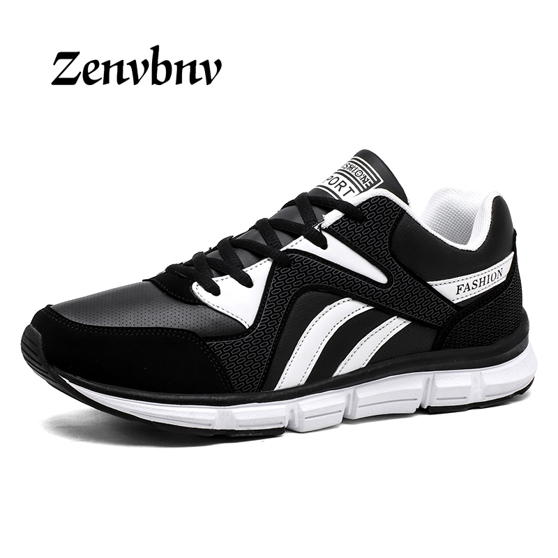 ZENVBNV Spring/summer Men Sneakers women Trainers Running Shoes Leather Sport Sneakers Athletic Jogging Shoes Big size 45 46