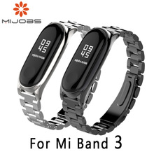 For Original Xiaomi Mi Band 3 Metal Strap Mijobs Metal Strap Plus For Mi Band 3 Strap Screwless Stainless Steel Bracelet For Mi3
