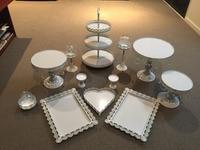 12pcs Set Wedding Tea Room Party Children Birthday Cake Stands Handle Supplies