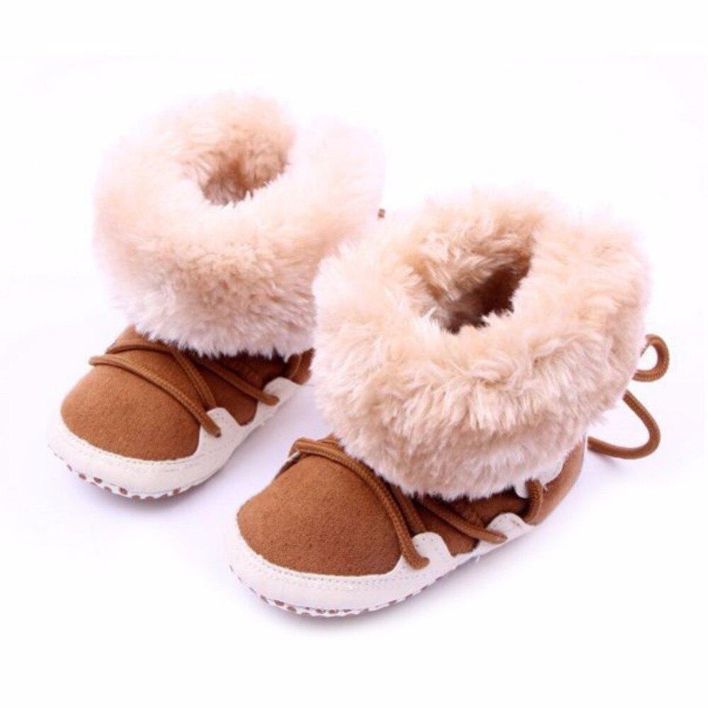 New Newborn Baby Flock Warm Pre-walker Shoes Infant Boy Girl Toddler Soft Soled First Walker for Winter P1
