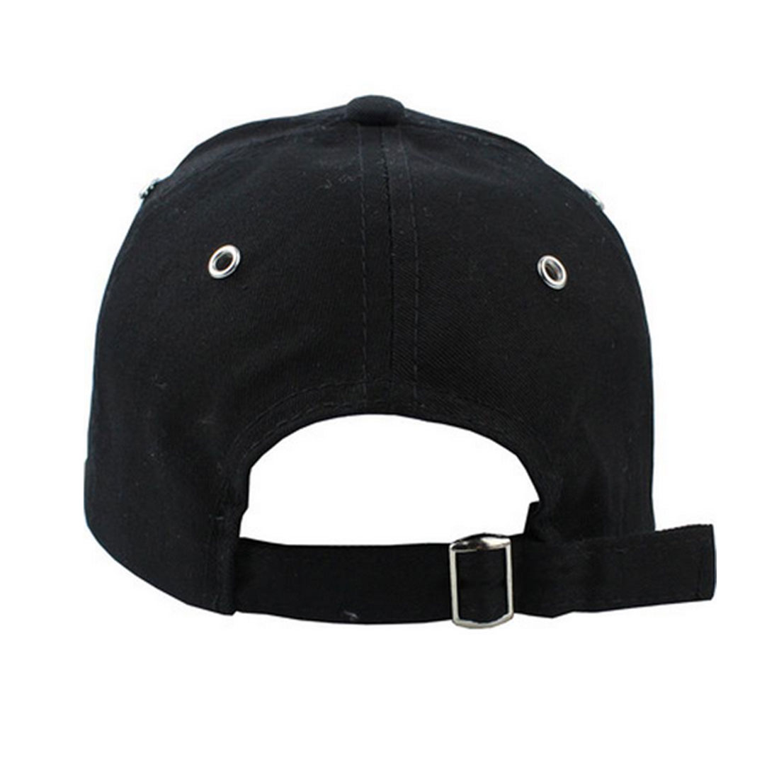 Baseball Cap with Rings Adjustable Casual Sport Hip Hop Ball Hat Baseball Caps Unisex Hats Black Pink White in Men 39 s Baseball Caps from Apparel Accessories