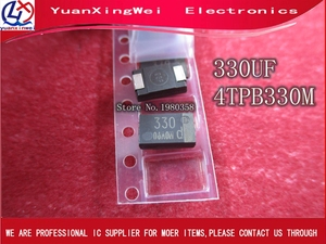 Image 2 - 20 יח\חבילה SMD 4V 330UF טנטלום קבלים נמוך ESR 330UF 4TPB330M יכול להחליף OE128 OE907 0.8