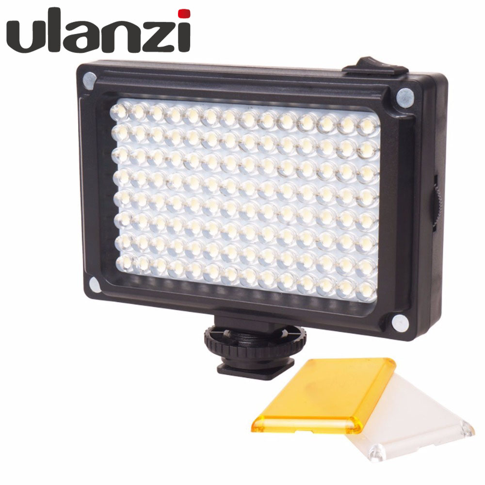 Ulanzi 112 LED regulable Luz de vídeo luz Panal recargable (luz blanca y cálida) para cámara DSLR videoluz boda grabación