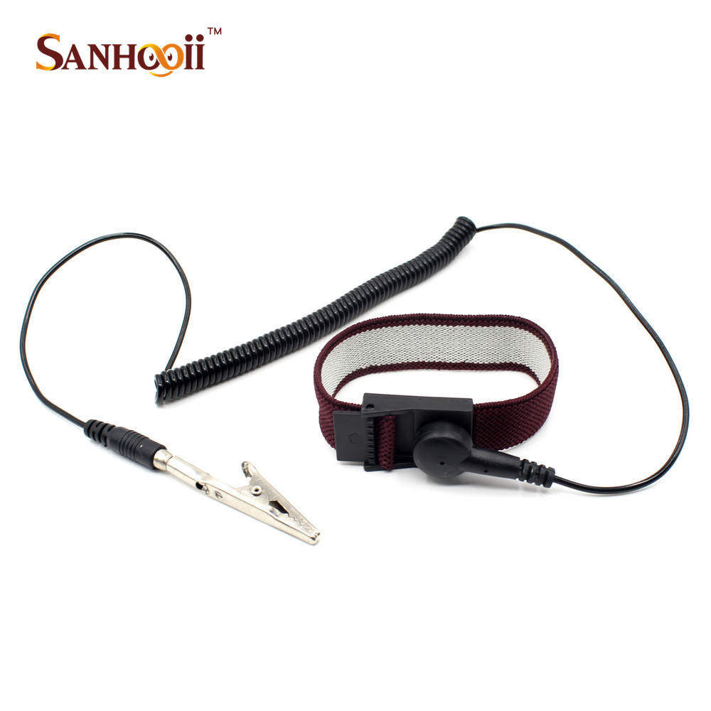 Back To Search Resultstools Power Tool Accessories Beautiful Free Shipping Bosi Esd Adjustable Wrist Strap New Anti Static Antistatic Esd Adjustable Wrist Strap Band Grounding Clip Fashionable Patterns