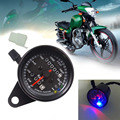 0~160km/h Motorcycle Odometer Speedometer Gauge Moto Scooter Dual Speed Meter LED Backlight Signal Light Digital Speedometer