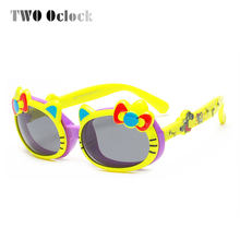 20946744c78 TWO Oclock Kids Sunglasses TR90 Cute Baby Cat Clip On Sunglass Polarized  Sun Glasses Child Girl Cartoon Eyewear Infant Oculo 859