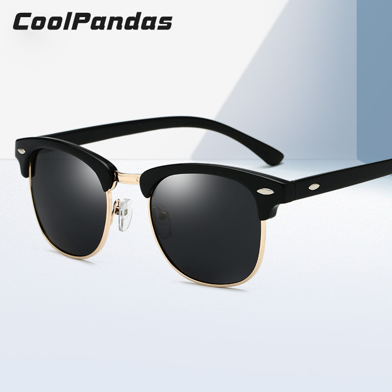 a2e65e738d PARZIN модные полуоправы круглые поляризованные солнцезащитные очки ...