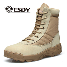 Men Desert Tactical Military Boots Mens Work Safty Shoes SWAT Army Boot Militares Tacticos Zapatos Ankle