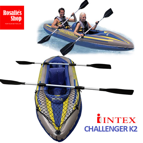 INTEX Challenger K2 Kayak Inflatable Boat Fishing Boat Rowing Boats