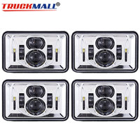 Square Truck Headlights 4X6 Car Led Headlight Square Light White Sealed Beam High/low Beam Replacement For Ford Trucks Offroad