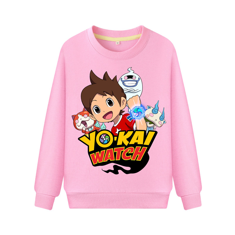 Child Cartoon Yokai Watch Print Hoodies Hoodie Kids Spring Autumn Casual Sweatshirts Boys Girls Long Sleeve Pullover Coat DZ101 (5)
