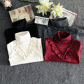 Children's Cloth Baby Girls Base Shirt 4 Colors Turtleneck Shirt Long Style Tees Spring Autumn Tees For Girls KD2-7Y