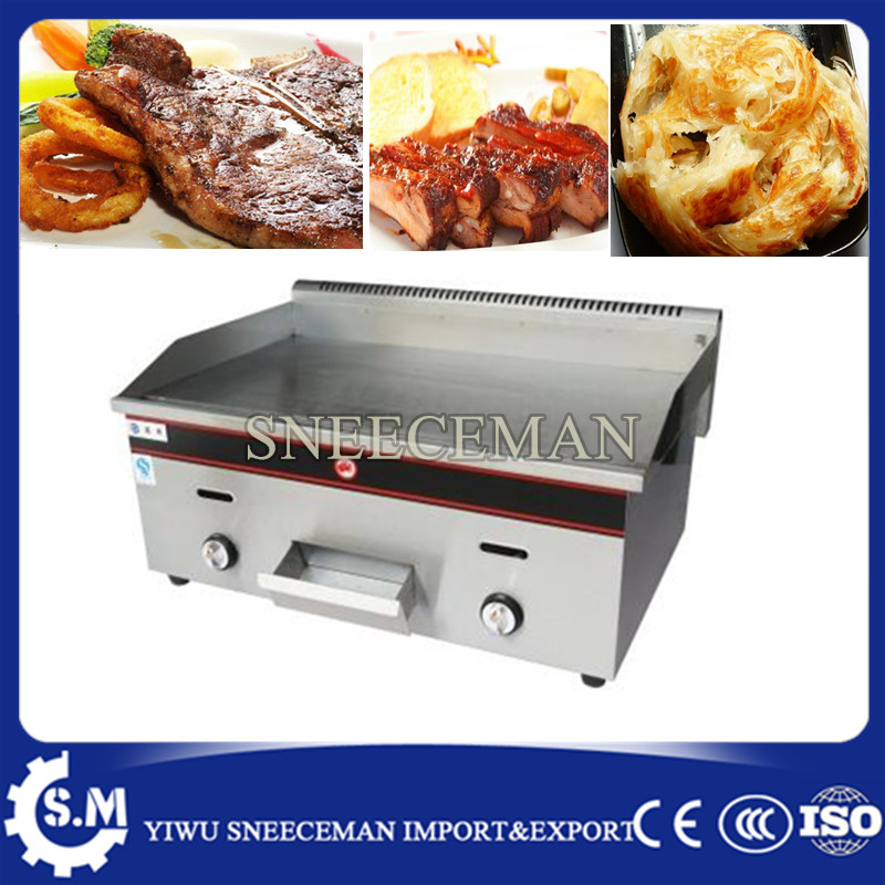 gas teppanyaki grill professional griddle flat gas grill for kitchen commercial use in food