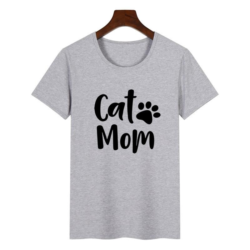 703c8d60a019 2018 Summer Women's New Fashion T shirt Dog Mother Paw Print Large Size T  shirt Women's Shirt Large Size Female-in T-Shirts from Women's Clothing ...