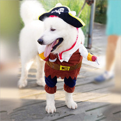 Pet Clothes Cosplay Pirate Dogs Cat Halloween Cute Costume Clothing Comfort For Small Medium Dog New Arrival 2019