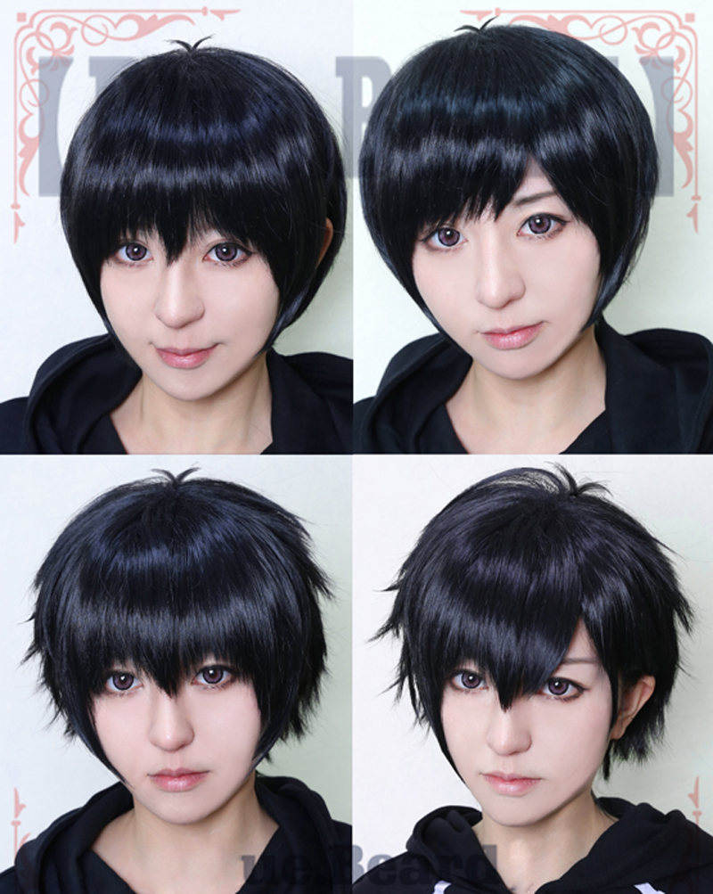 Haute qualité Osomatsu Matsuno Cosplay perruque Osomatsu San perruque courte noire résistant à la chaleur perruques de cheveux sythentiques