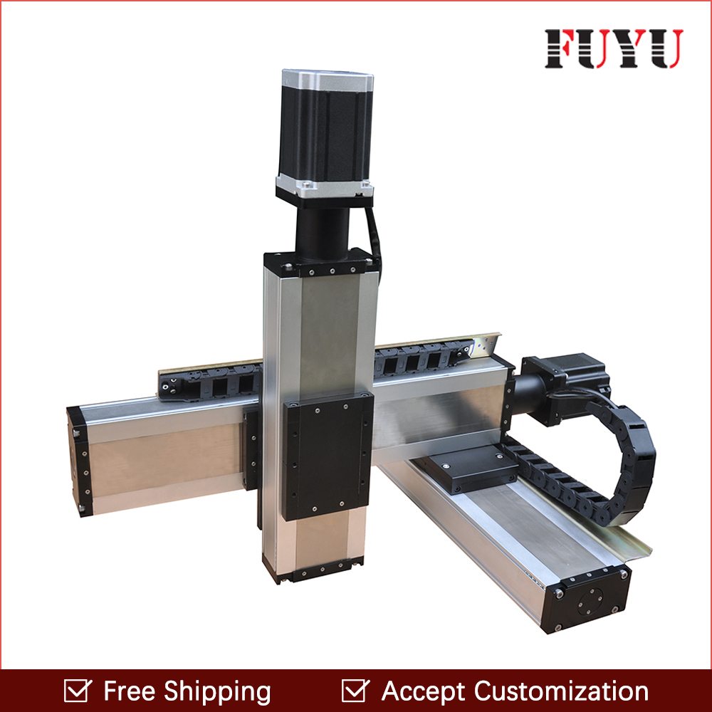 Free shipping 100x100x100mm nema34 stepper motor drive three axis Linear Motion Systems xyz stage motorized for printerFree shipping 100x100x100mm nema34 stepper motor drive three axis Linear Motion Systems xyz stage motorized for printer