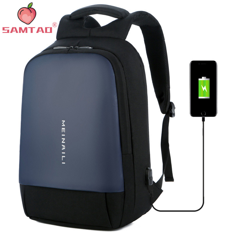 With USB Charging Waterproof Back Pack Bag Male Backpack Brand 15 6 Inch Laptop Notebook Mochila