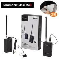 Saramonic SR WM4C Lavalier Wireless Microphone for Canon Nikon Sony DSLR Cameras Panasonic Camcorder GoPro Hero 4 3 3+ Action
