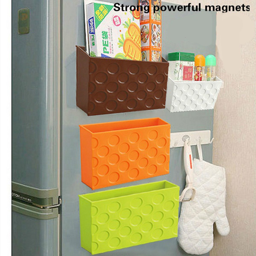 kitchen storage box magnet storage box for kitchen refrigerator freezer food 3125
