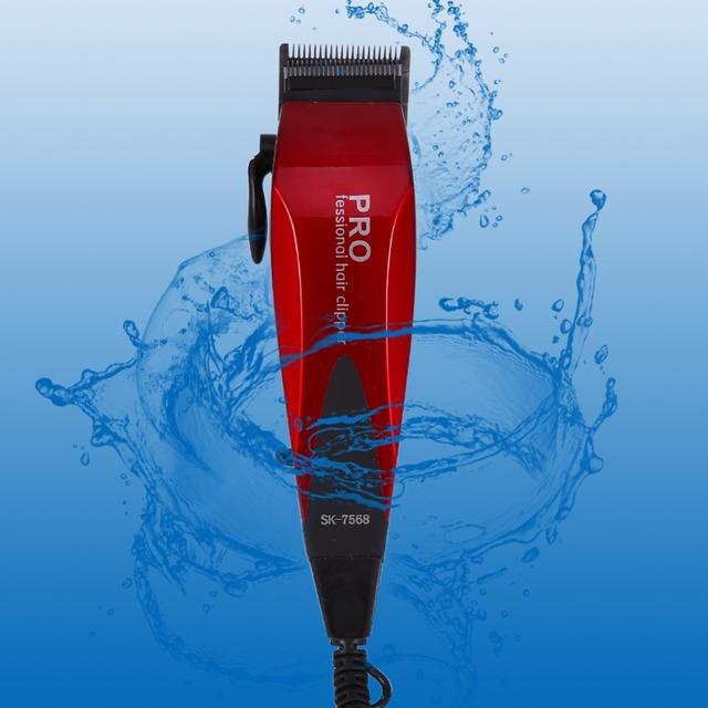Herramienta de Corte de Pelo profesional 12 W secador de Pelo Eléctrico Clipper Trimmer máquina de Afeitar Eléctrica de Peluquería Corte de Pelo Máquina Enchufe de LA UE