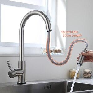 Image 3 - Akıllı dokunmatik mutfak musluk vinç sensörü mutfak çeşmesi lavabo bataryası döndür dokunmatik musluk sensörü su mikser KH 1005