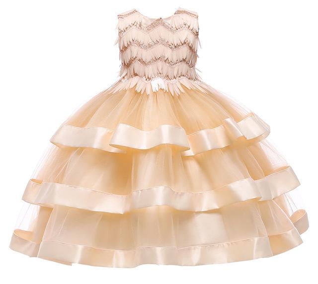 Filles Robes de Princesse D'anniversaire Partie Formelle de Soirée De Mariage Robe Robe Tenues paillettes Tutu Robe Infantile Vêtements Pour Enfants