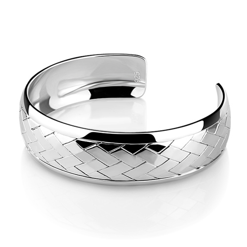 Fashionable Woman Pure Silver Bracelet Solid Wide Adjule Size Bracelets And Bangles 925 Jewelry In From
