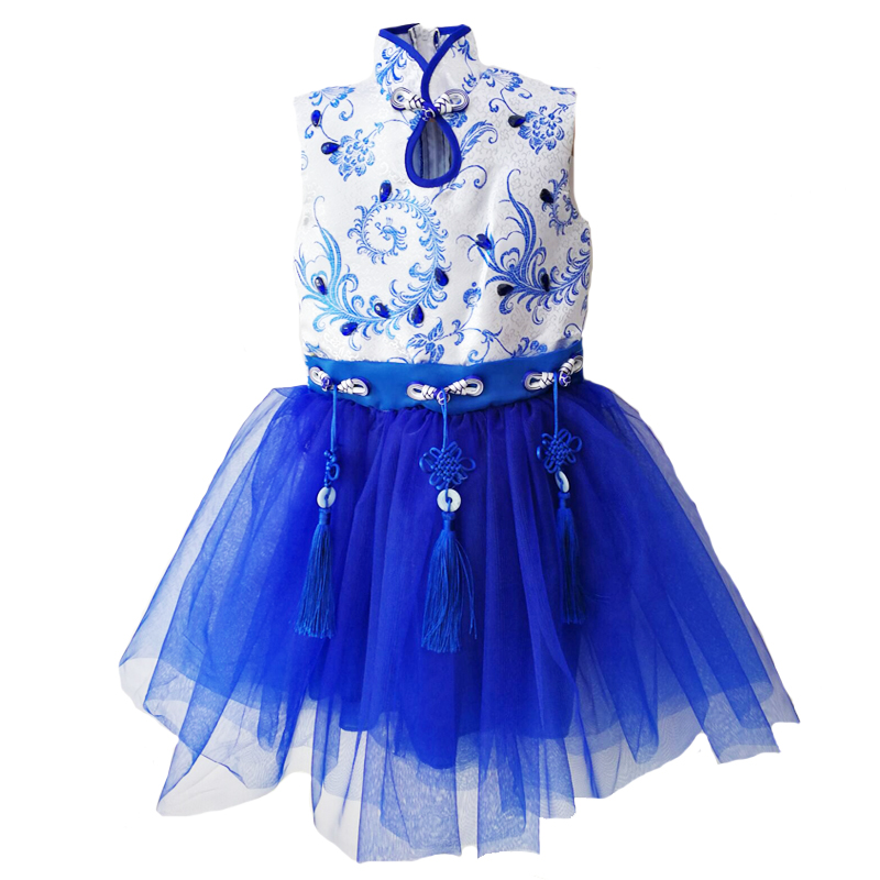 Girl Tutu Dress Ballet Yarn Dance Performance Clothes Candy Color Sleeveless Dancewear Ballroom Competition Practice Skirts